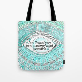 Positive affirmation, mindfulness quote, hand-drawn lettering, yoga art, yoga drawing, motivation Tote Bag