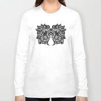 gemini Long Sleeve T-shirts featuring Gemini by Mario Sayavedra