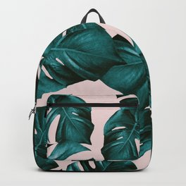 Monstera Leaves Pattern #4 #tropical #decor #art #society6 Backpack
