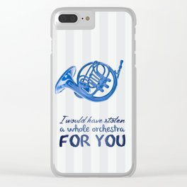 blue french horn / himym Clear iPhone Case