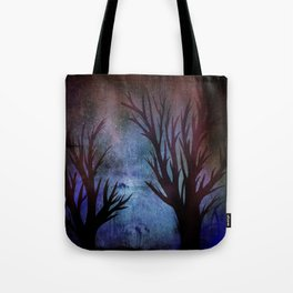 Night Trees Tote Bag