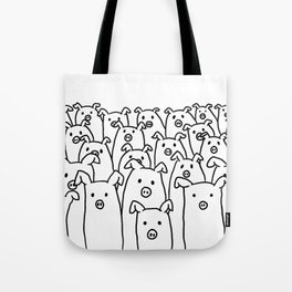 Fun Line Piggy Pattern Tote Bag