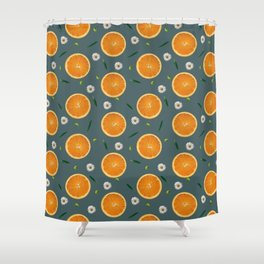 Aliño de naranjas Shower Curtain