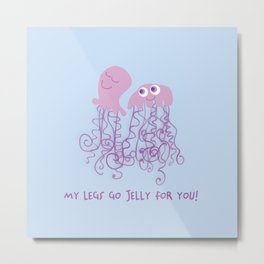 Jellyfish Love Metal Print