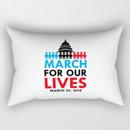 March For Our Lives 2018 Rectangular Pillow