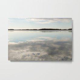 Cloud Reflections Metal Print