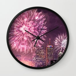 Boston, MA  July 4th Pops Fireworks Spectacular Wall Clock