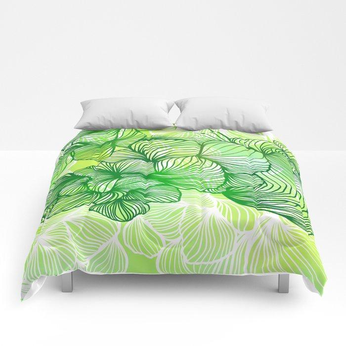 Green Flora Comforters