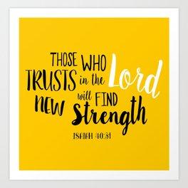 Isaiah 40:30 Art Print