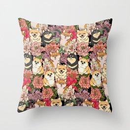 Because Shiba Inu Throw Pillow