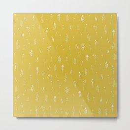 Wildflowers IX - Yellow Metal Print