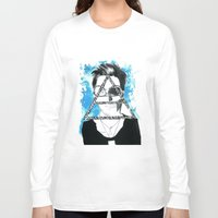 jared leto Long Sleeve T-shirts featuring jared triangle leto by anxiety