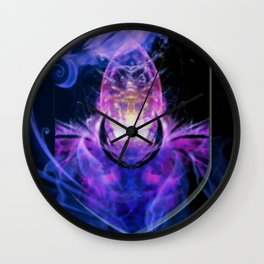 Galactic Alien Shield Wall Clock