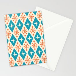 Mid Century Modern Atomic Triangle Pattern 107 Stationery Cards