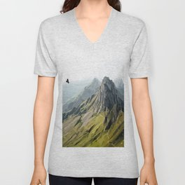 Mountain Scene Unisex V-Neck