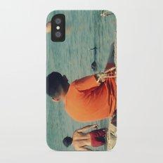 Summer Swim ~ lake iPhone X Slim Case