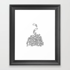 Pile of Rabbits Framed Art Print