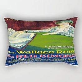 Vintage poster - The Red Kimono Rectangular Pillow