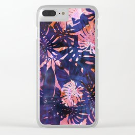 Motuu Tropical Pink & Purple Clear iPhone Case
