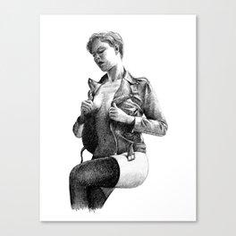 Leather Canvas Print