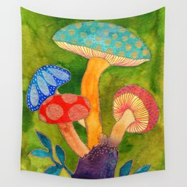 Toadstools Wall Tapestry