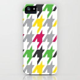 Summer Houndstooth Pattern iPhone Case