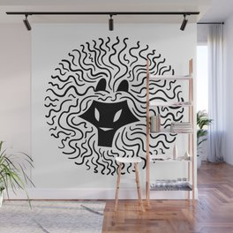 Black Lion Twisted Mane Wall Mural