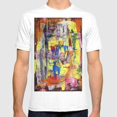 RICHTER SCALE 1 MEDIUM White Mens Fitted Tee