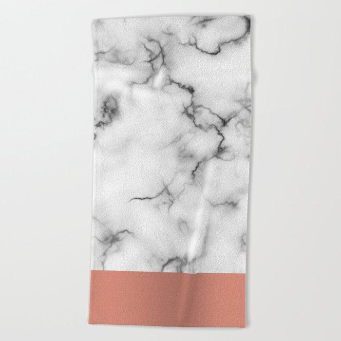 Marble & copper Beach Towel