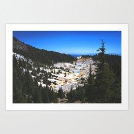 Bumpass Hell Pass Lassen Volcanic National Park Art Print