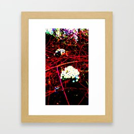 red white and a little green  Framed Art Print