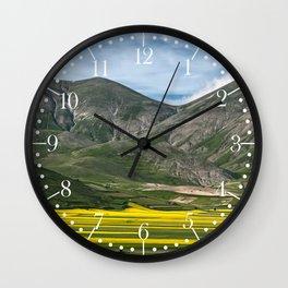 The fields of Castelluccio Wall Clock