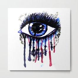 Blue eye splashing Metal Print