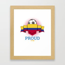 Football Colombians Colombia Soccer Team Sports Footballer Goalie Rugby Gift Framed Art Print