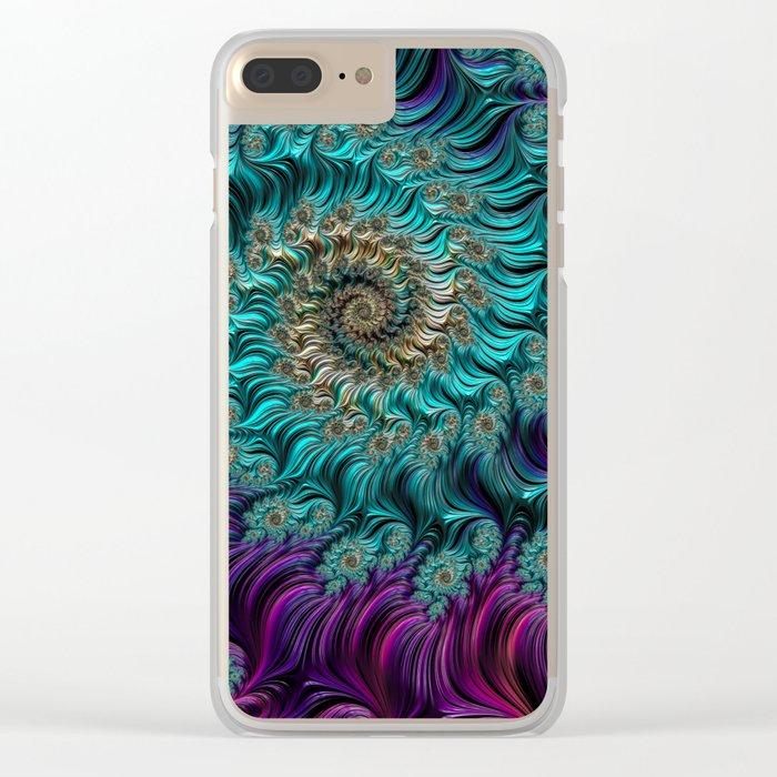 Aqua Swirl Clear iPhone Case