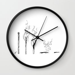 Lifespan of a Match Wall Clock