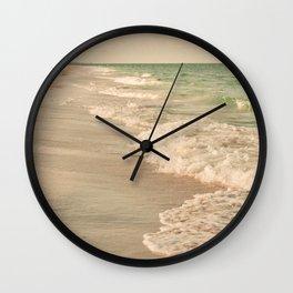 Tropical Beach Love Wall Clock