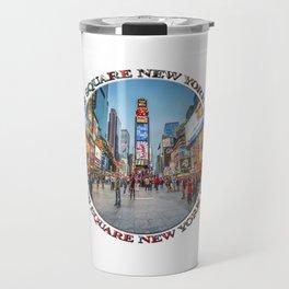 Times Square Sparkle (badge on white) Travel Mug
