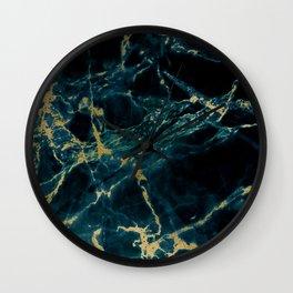 marble blue black Wall Clock