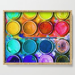 Watercolor Art Palette Serving Tray