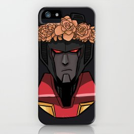 Starscream with Flowers iPhone Case