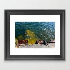 Break Water Framed Art Print