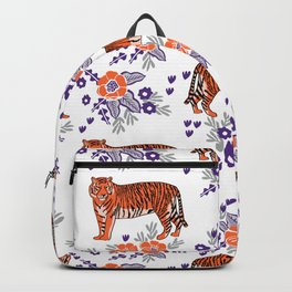 Tigers orange and purple clemson football varsity university college sports fan gifts Backpack