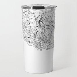 Lausanne Map White Travel Mug