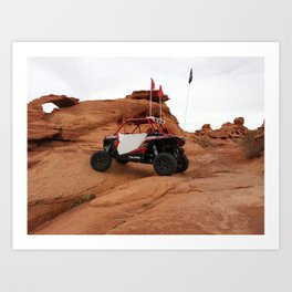 Polaris RZR at Sand Hollow riding area Art Print