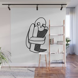 fetal position Wall Mural