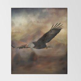 Eagle Flying Free Throw Blanket