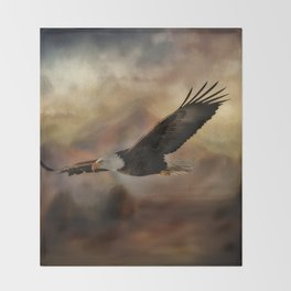 Eagle Flying Free Throw Blanket