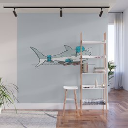 The Shark Skater Wall Mural