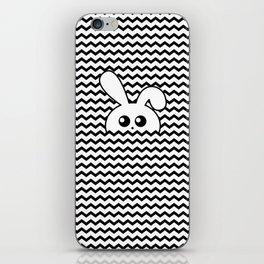 Curious bunny iPhone Skin